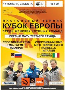Read more about the article Кубок Европы среди женских клубных команд