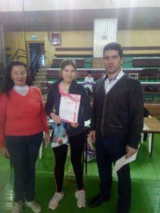 Read more about the article Первое место у Дарьи Бариловой!