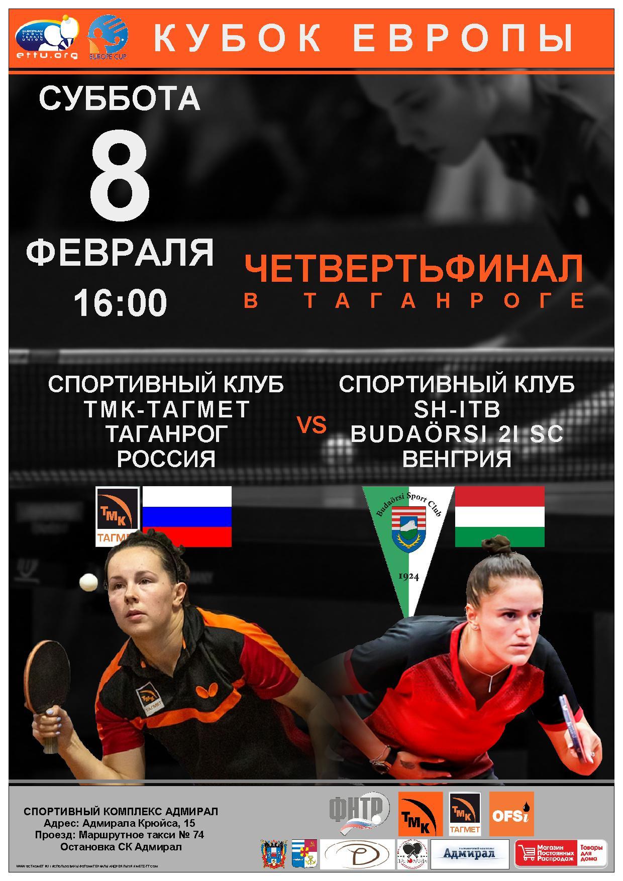 You are currently viewing Кубок Европы, четвертьфинал! В Таганроге! 08.02.20